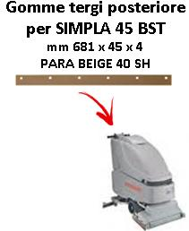 SIMPLA 45 BST Back Squeegee rubber Comac