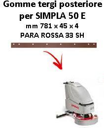 SIMPLA 50 E Back Squeegee rubber Comac
