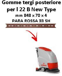 L 22 B New Type  Back Squeegee rubber Comac