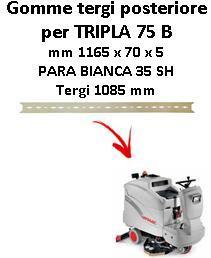 TRIPLA 75 B  Back Squeegee rubber Comac