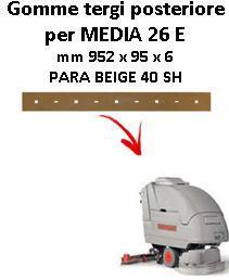 MEDIA 26 E Back Squeegee rubber Comac