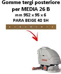MEDIA 26 B Back Squeegee rubber Comac