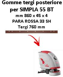 SIMPLA 55 BT  Back Squeegee rubber Comac