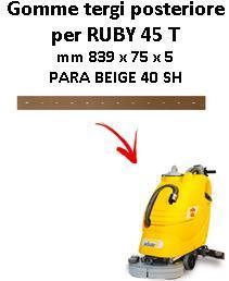 RUBY 45 T Back Squeegee rubber Adiatek