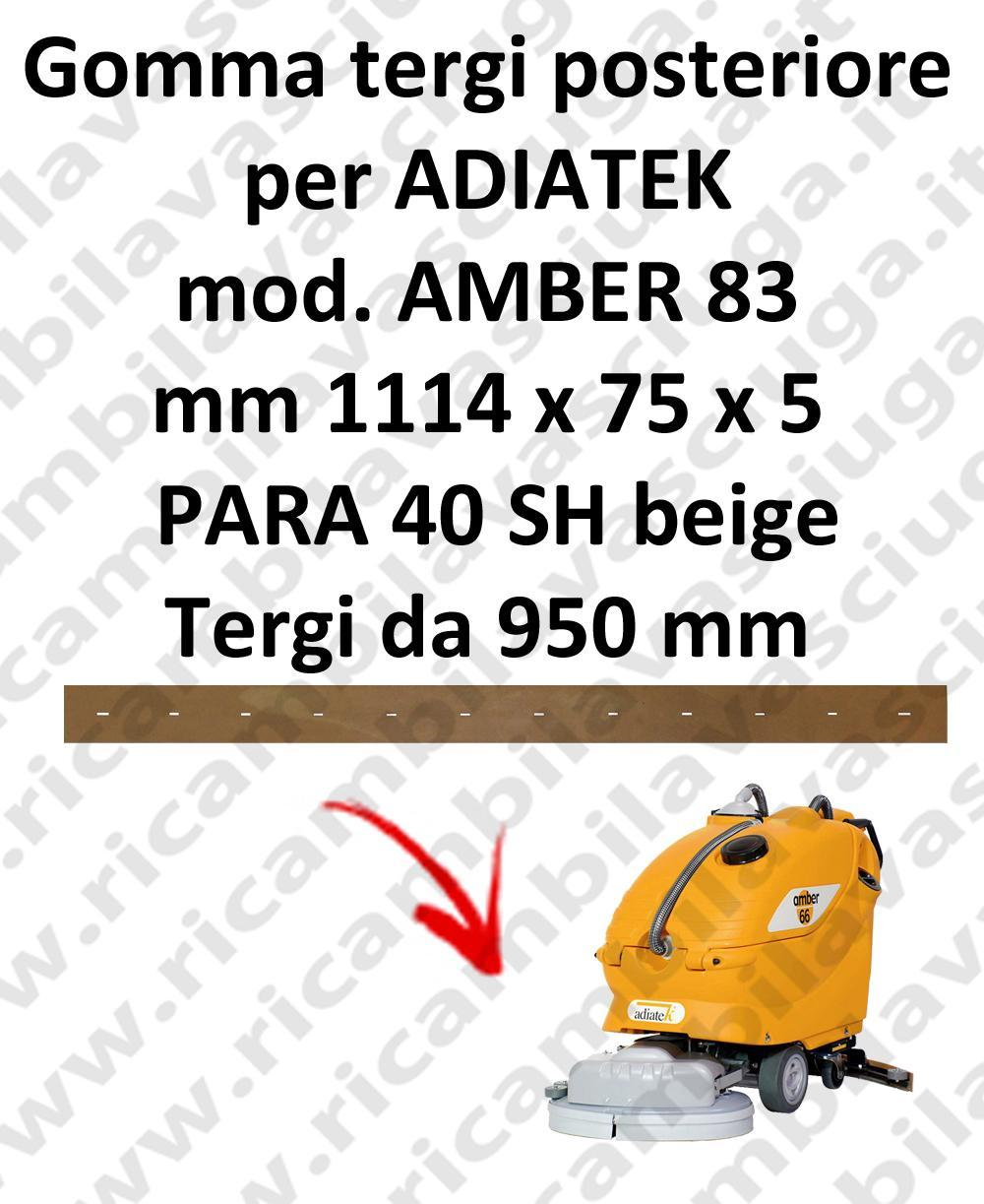 AMBER 83 Back Squeegee rubber for squeegee ADIATEK (squeegee length 950 mm)