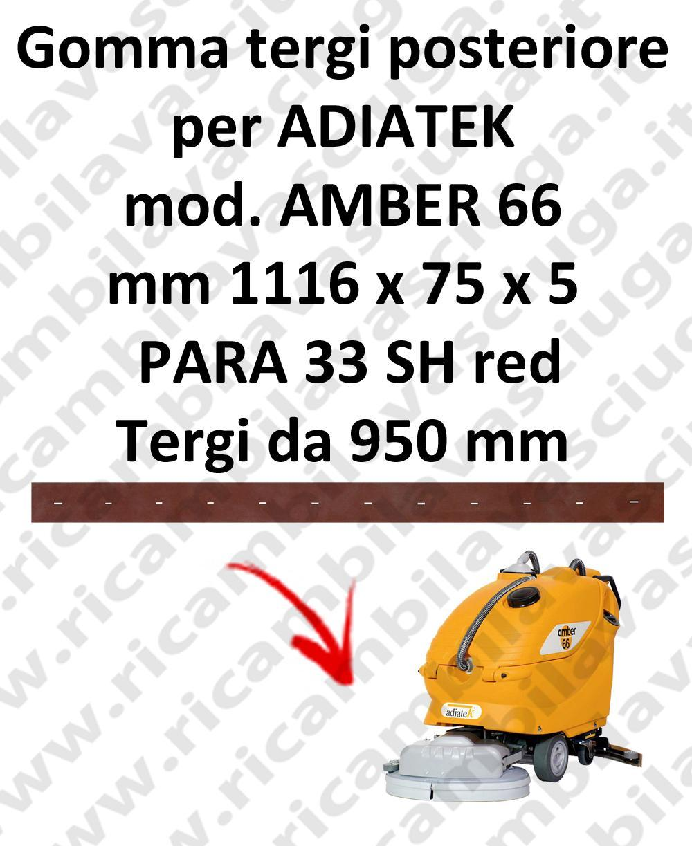 AMBER 66 Back Squeegee rubber for squeegee ADIATEK (squeegee length 950 mm)