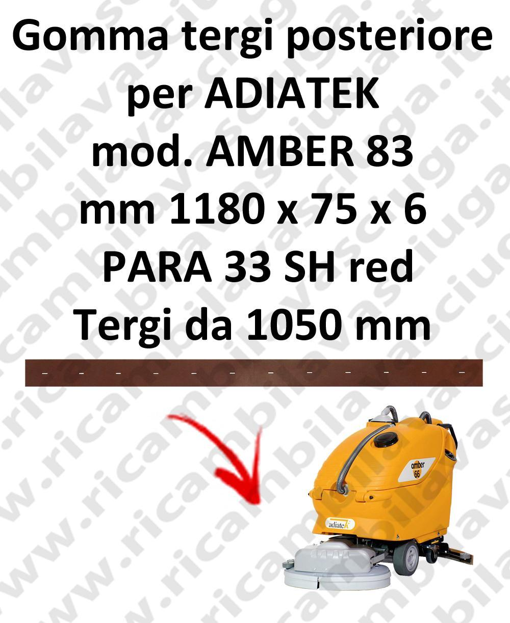 AMBER 83 Back Squeegee rubber for squeegee ADIATEK (squeegee length 1050 mm)
