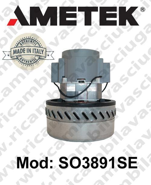 Vacuum motor SO3891SE AMETEK ITALIA for scrubber dryer and vacuum cleaner
