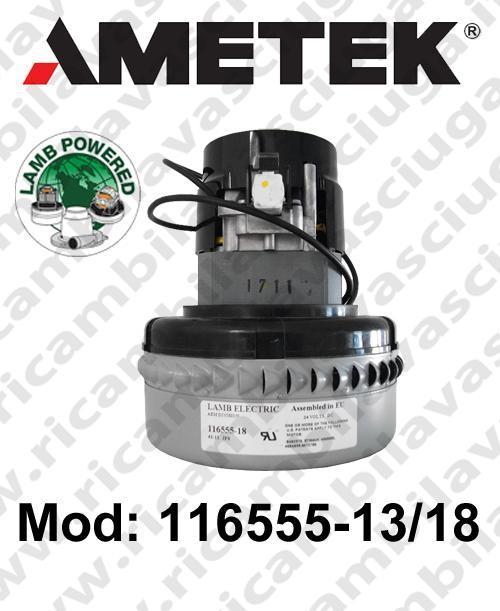 Vacuum motor 116555-13/18 LAMB AMETEK for scrubber dryer