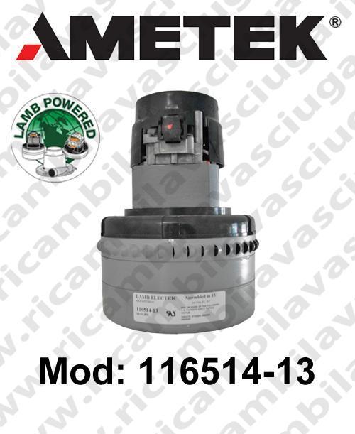 Vacuum motor 116514-13 LAMB AMETEK for scrubber dryer