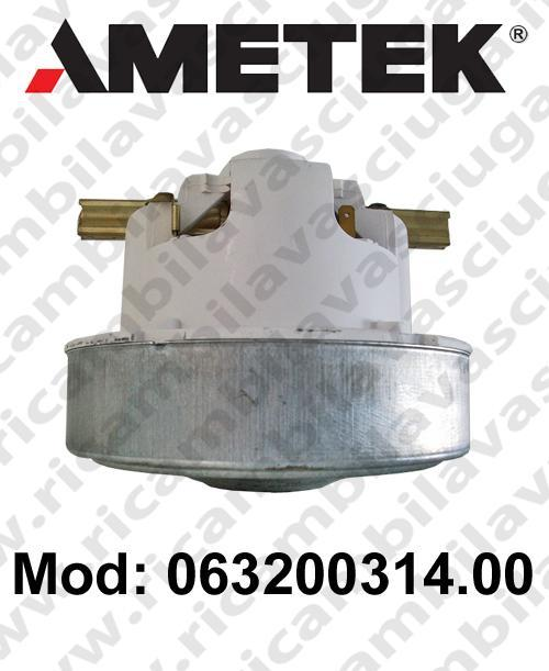 Vacuum motor 063200314.00 AMETEK for vacuum cleaner