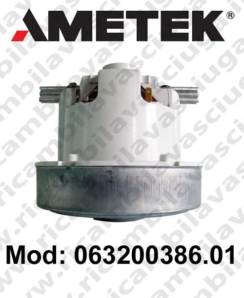 Vacuum motor 063200386.01 AMETEK for vacuum cleaner