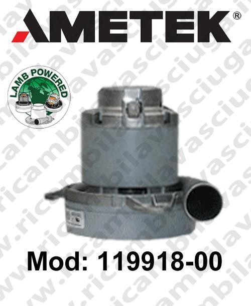 Vacuum Motor LAMB AMETEK 119918-00 for sistemi centralizzati