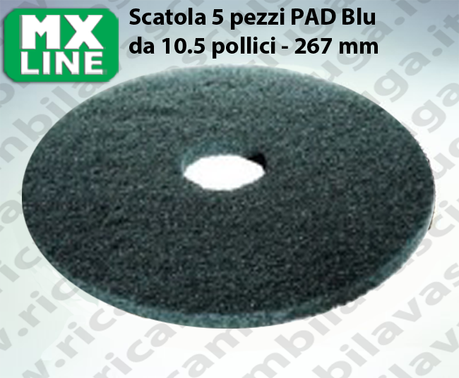 MAXICLEAN PAD, 5 peaces/box ,bluee color  10.5 inch - 267 mm | MX LINE