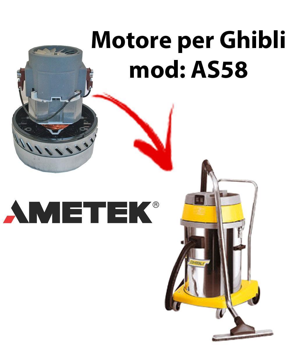 AS58  Vacuum motor Amatek for wet and dry vacuum cleaner GHIBLI