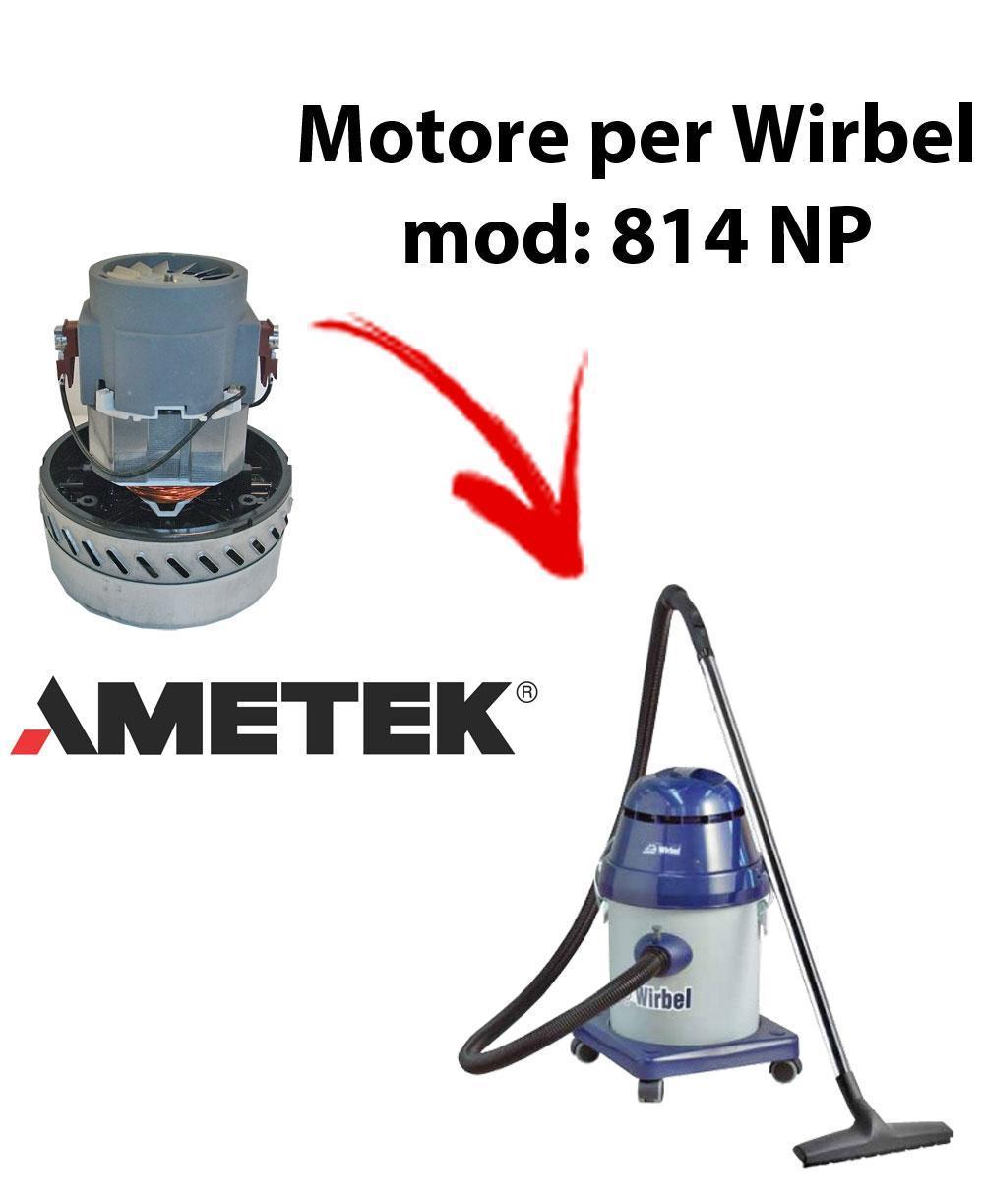814 P  Vacuum motor Amatek for wet and dry vacuum cleaner WIRBEL