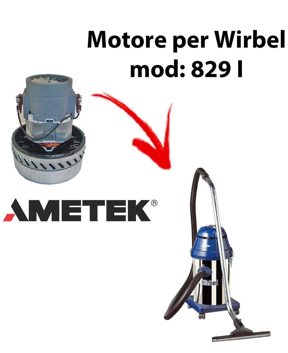 829 I  Vacuum motor Amatek for wet and dry vacuum cleaner WIRBEL