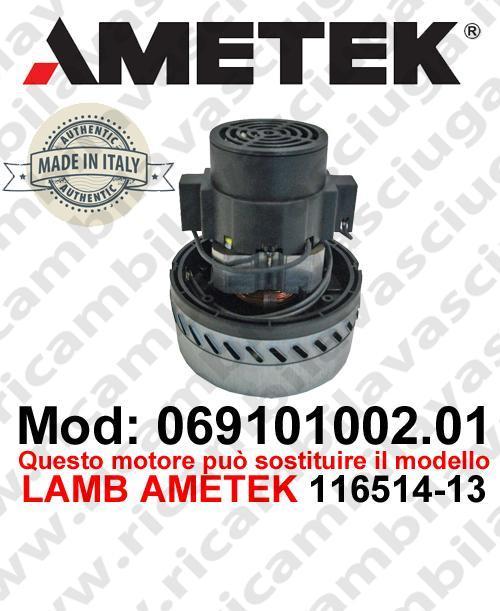 Vacuum motor 069101002.01 AMETEK ITALIA for scrubber dryer ,can replace the model LAMB AMETEK 116514-13