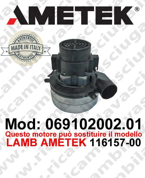 Vacuum motor 069102002.01 AMETEK ITALIA for scrubber dryer ,can replace the model LAMB AMETEK 116157-00