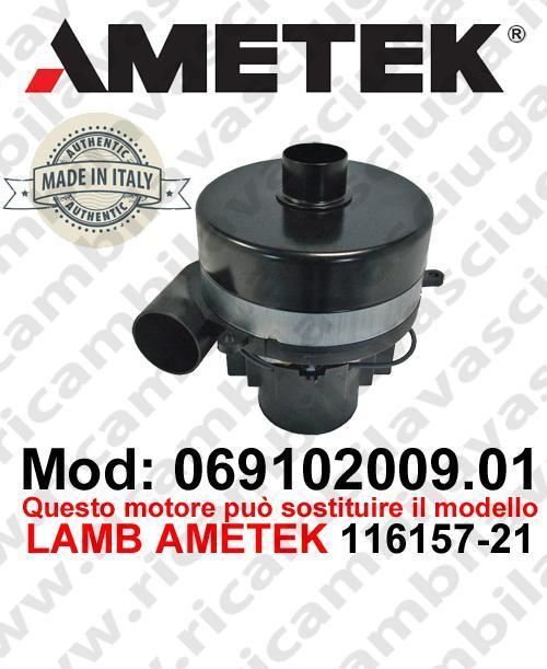 Vacuum motor 069102009.01 AMETEK ITALIA for scrubber dryer ,can replace the model LAMB AMETEK 116157-21