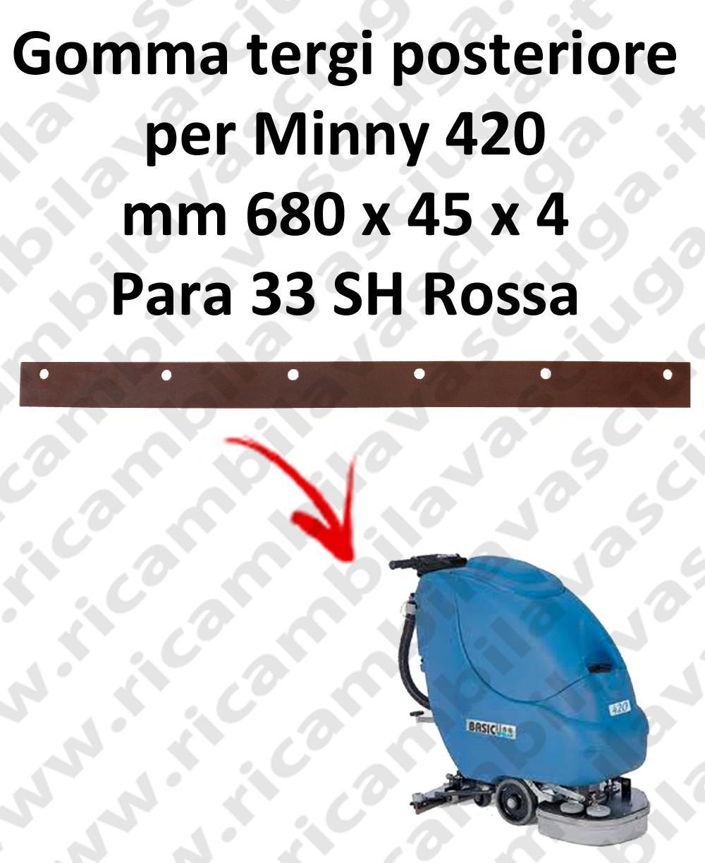MINNY 420  Back Squeegee rubber for FIMAP accessories, reaplacement, spare parts,o scrubber dryer squeegee