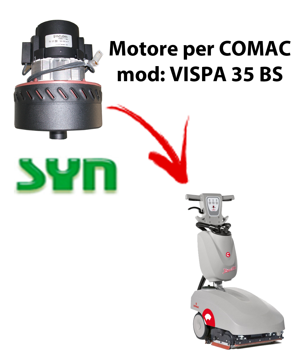 VISPA 35 BS Vacuum motor SY N for scrubber dryer Comac