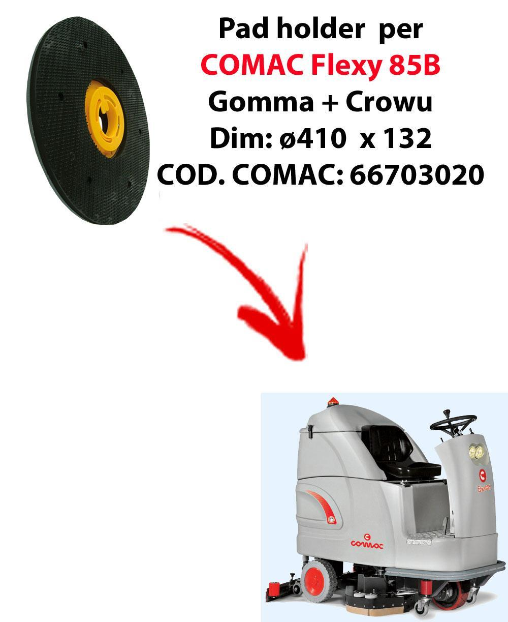 PAD HOLDER for scrubber dryer COMAC Flexy 85B. Code comac: 66703020