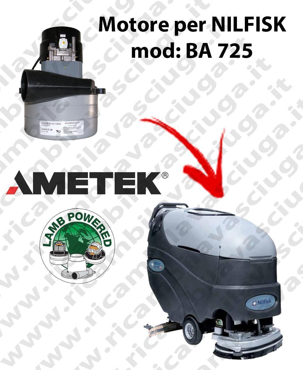 BA 725 Vacuum motor LAMB AMETEK for scrubber dryer NILFISK