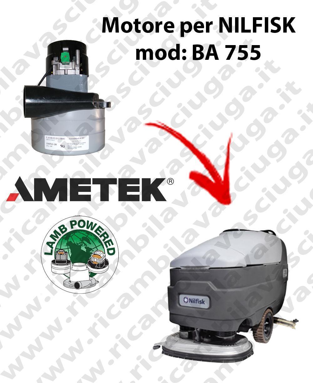 BA 755 Vacuum motor LAMB AMETEK for scrubber dryer NILFISK