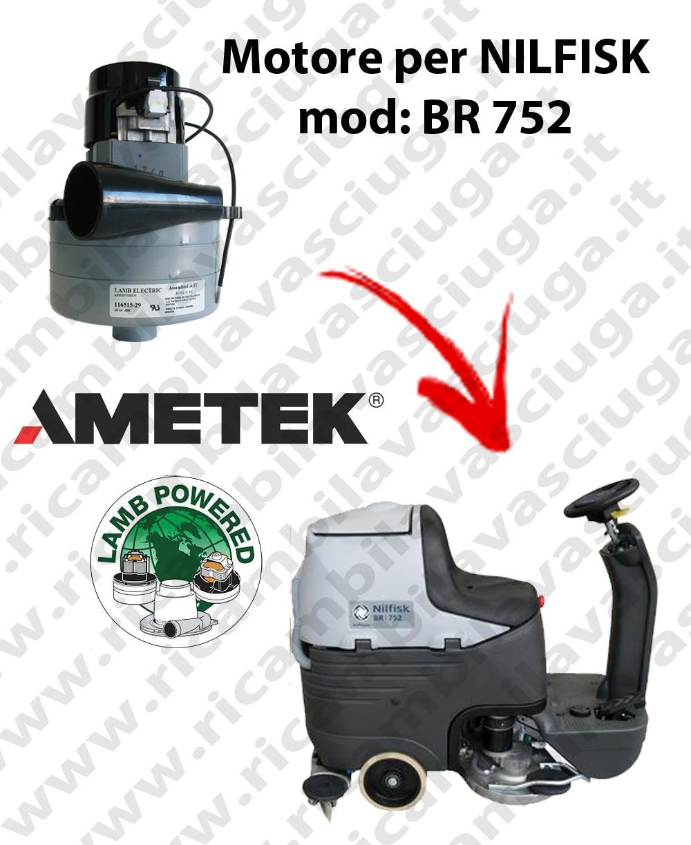 BR 752 Vacuum motor LAMB AMETEK for scrubber dryer NILFISK
