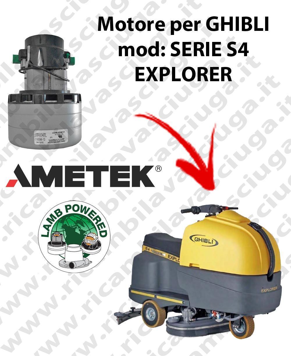 SERIE S4 EXPLORER Vacuum motor LAMB AMETEK for scrubber dryer GHIBLI