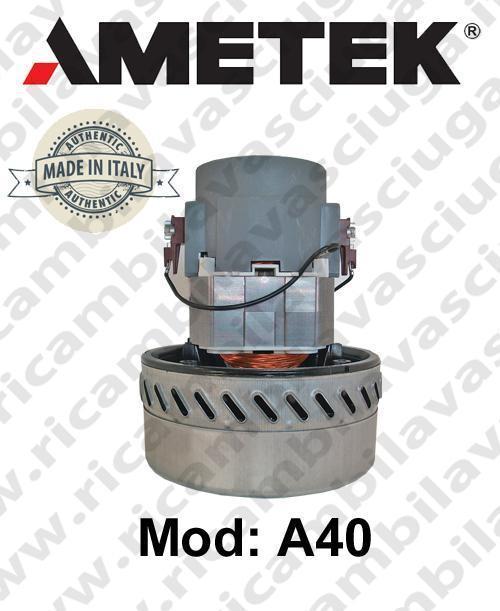 Vacuum motor A40 AMETEK ITALIA for scrubber dryer and vacuum cleaner