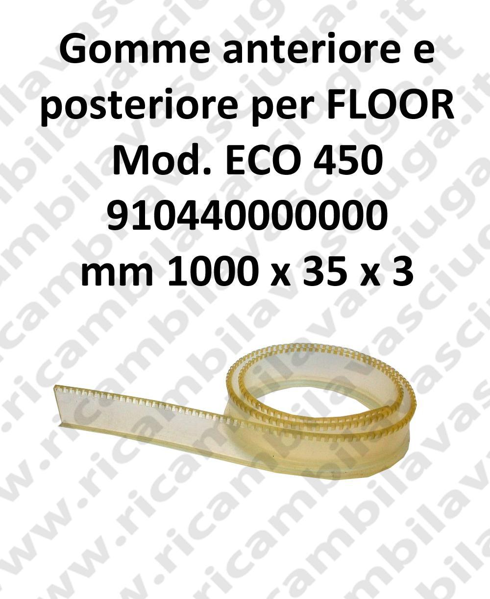 FLOOR Front Squeegee rubber e back for ECO 450