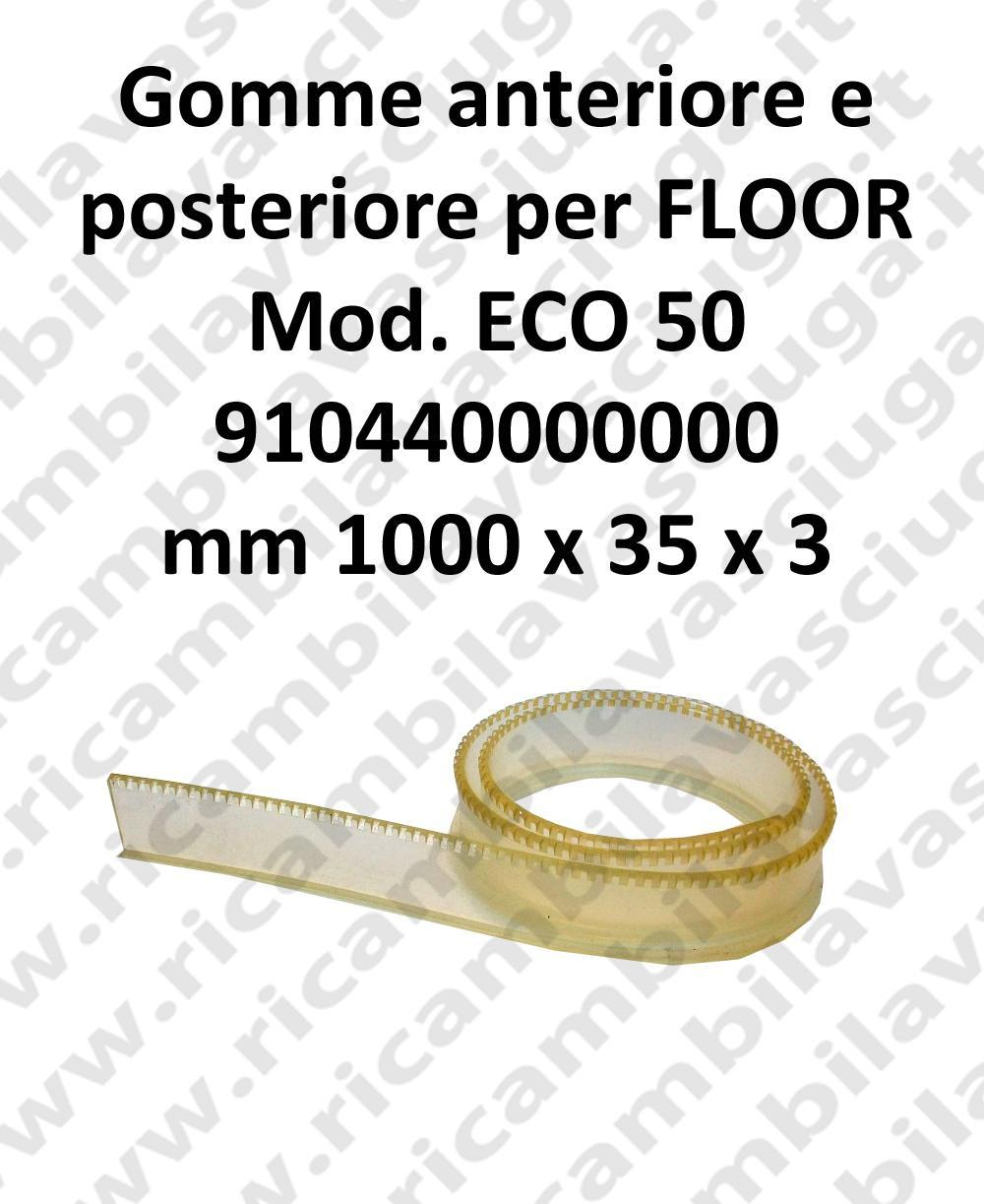 FLOOR Front Squeegee rubber e back for ECO 50