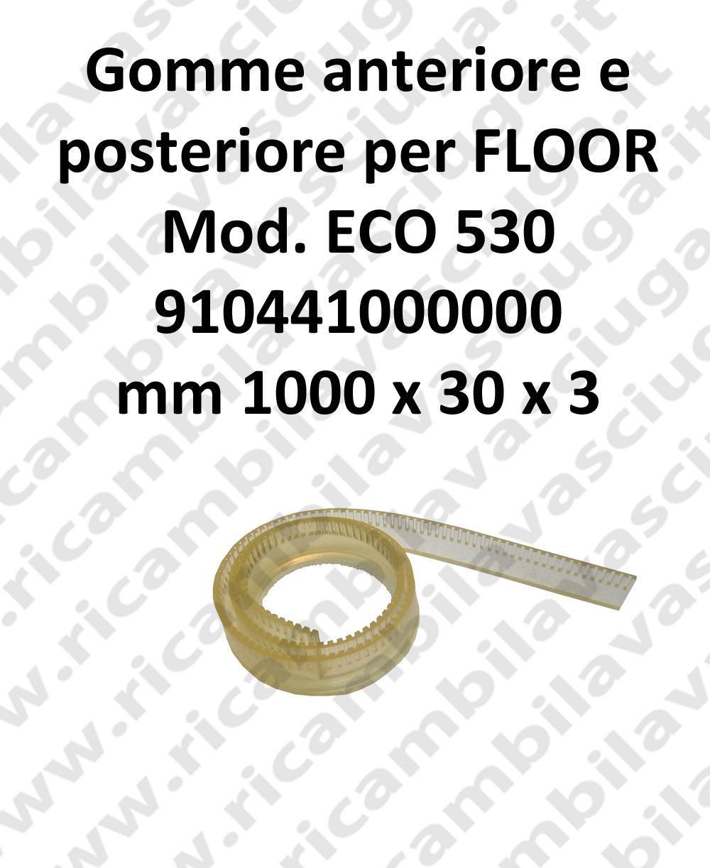 FLOOR Front Squeegee rubber e back for ECO 530