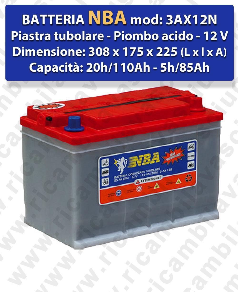 3AX12N Battery piombo - NBA 12V 110Ah 20/h