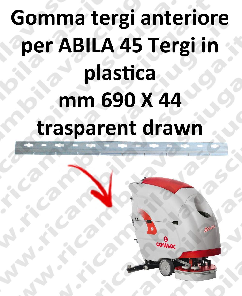 ABILA 45 Front Squeegee rubber for COMAC accessories, reaplacement, spare parts,o scrubber dryer squeegee
