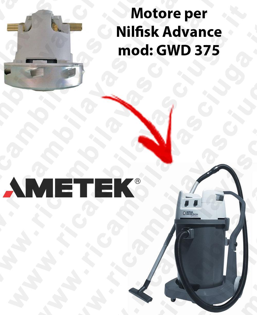 GWD 375  Ametek Vacuum Motor for Vacuum cleaner Nilfisk Advance