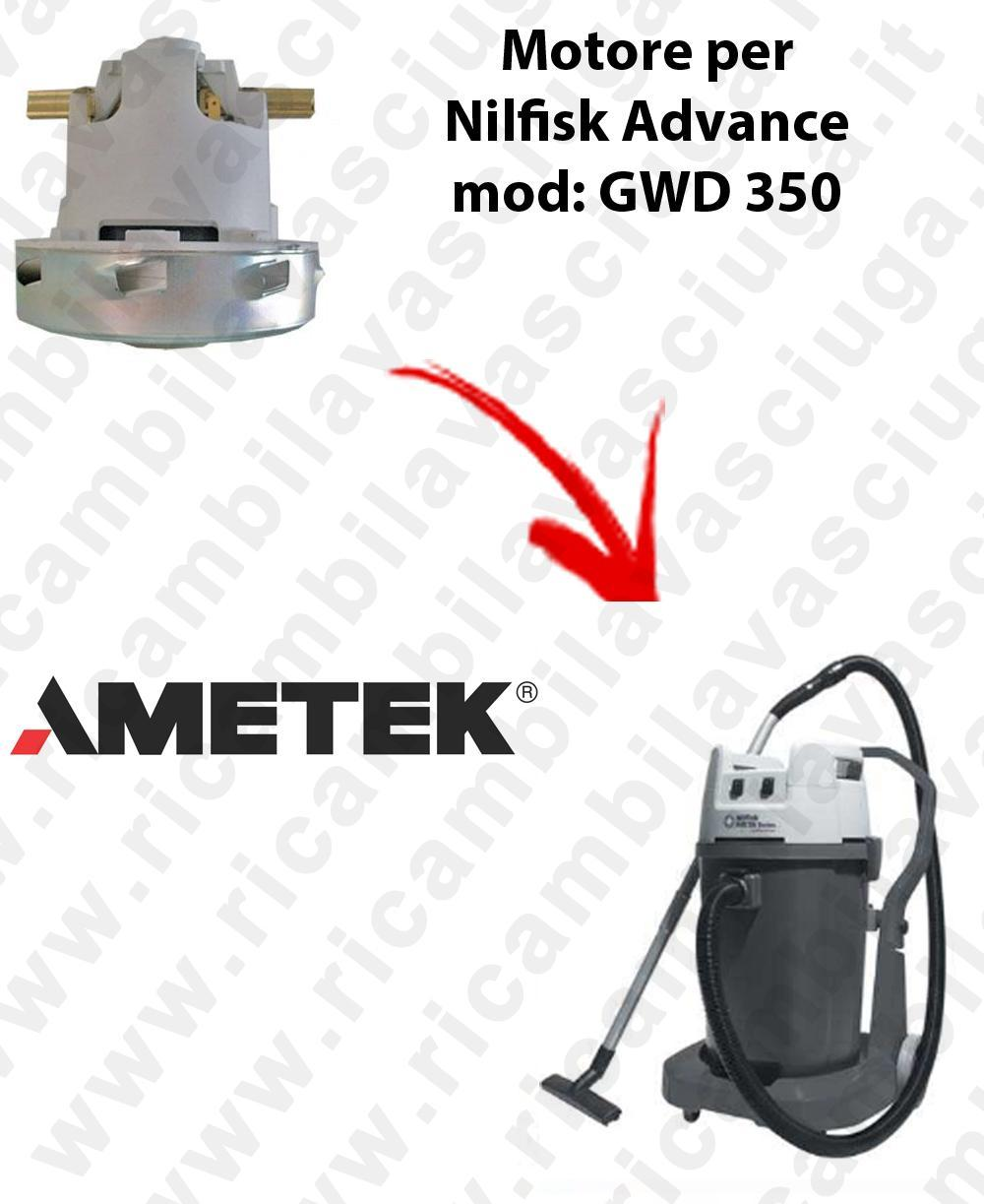 GWD 350  Ametek Vacuum Motor for Vacuum cleaner Nilfisk Advance