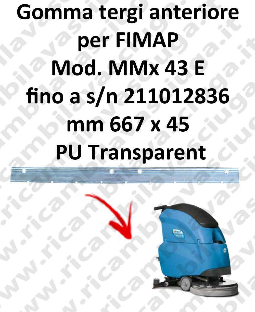 MMx 43 E till s/n 211012836 Front Squeegee rubber for FIMAP accessories, reaplacement, spare parts,o scrubber dryer squeegee