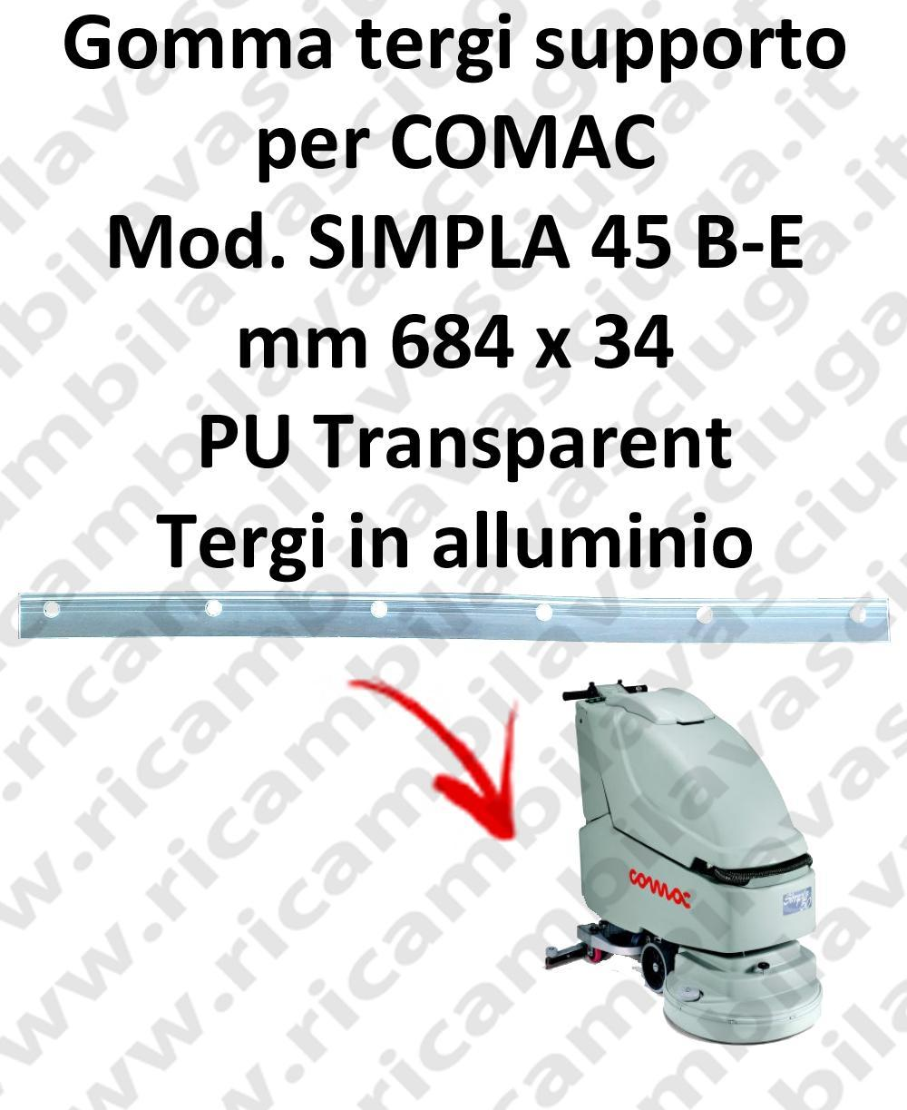 SIMPLA 45 B- E Support Squeegee rubber for COMAC accessories, reaplacement, spare parts,o scrubber dryer squeegee