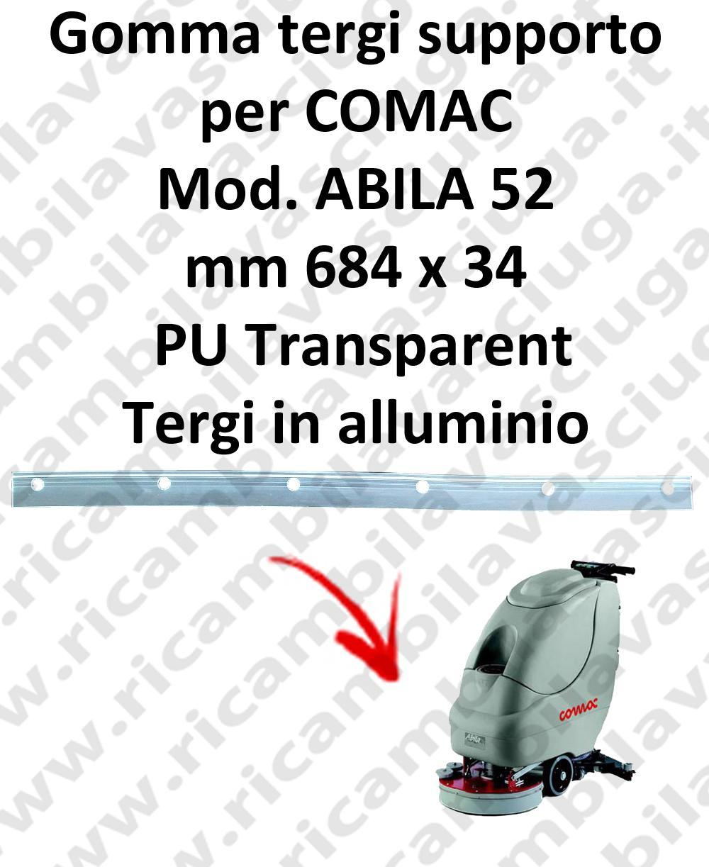 ABILA 52 Support Squeegee rubber for COMAC accessories, reaplacement, spare parts,o scrubber dryer squeegee