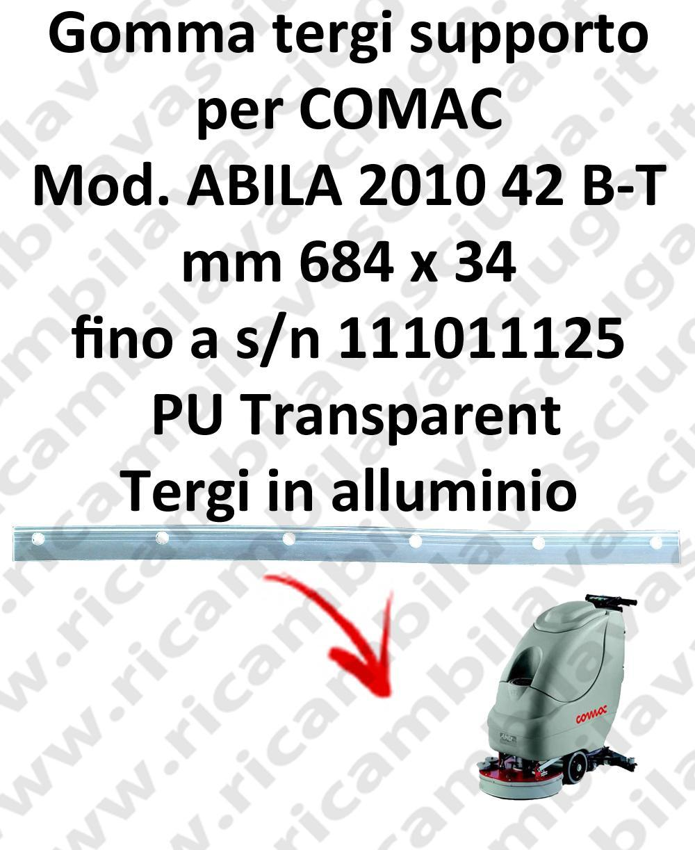 ABILA 42 B - BT till s/n 111011125 Support Squeegee rubber for COMAC accessories, reaplacement, spare parts,o scrubber dryer squeegee