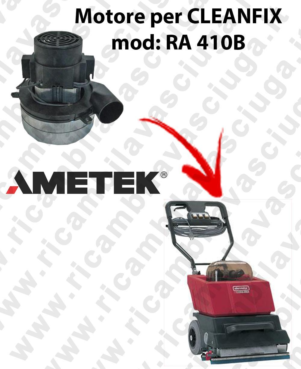 RA 410B Vacuum motors AMETEK Italia for scrubber dryer CLEANFIX