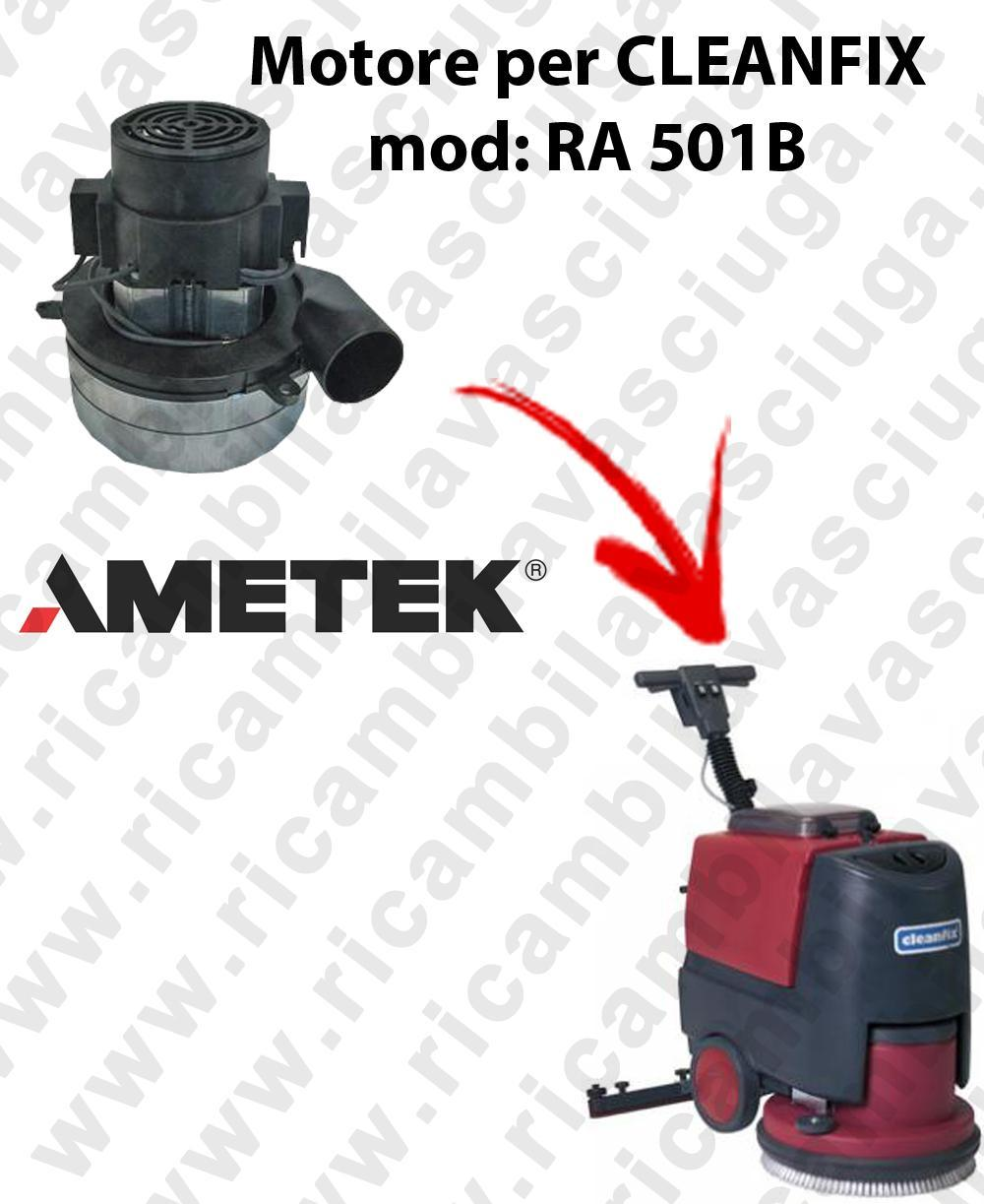 RA 501B Vacuum motors AMETEK Italia for scrubber dryer CLEANFIX