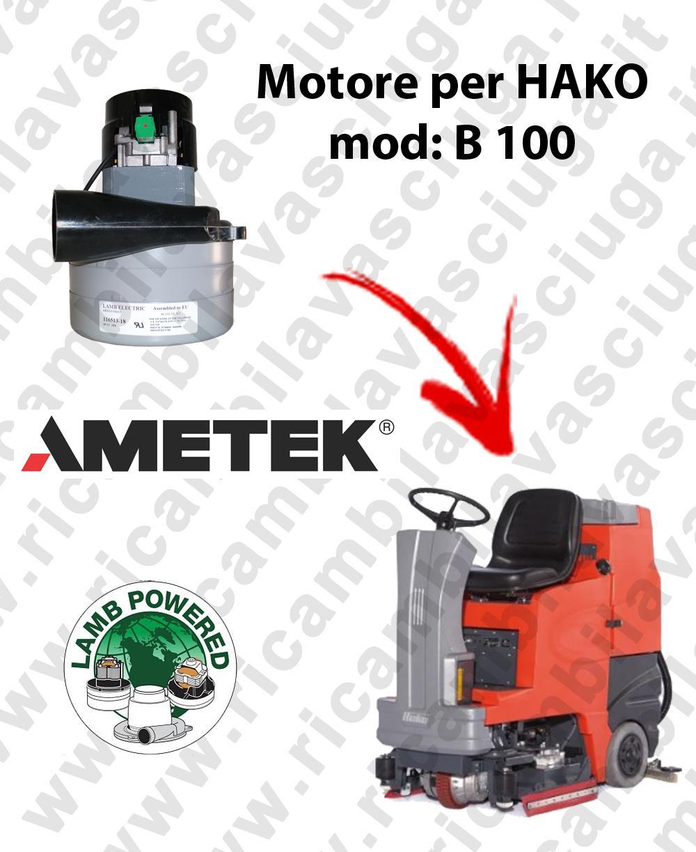 B 100 LAMB AMETEK vacuum motor for scrubber dryer HAKO