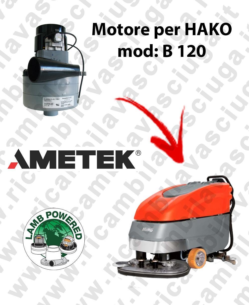B 120 LAMB AMETEK vacuum motor for scrubber dryer HAKO