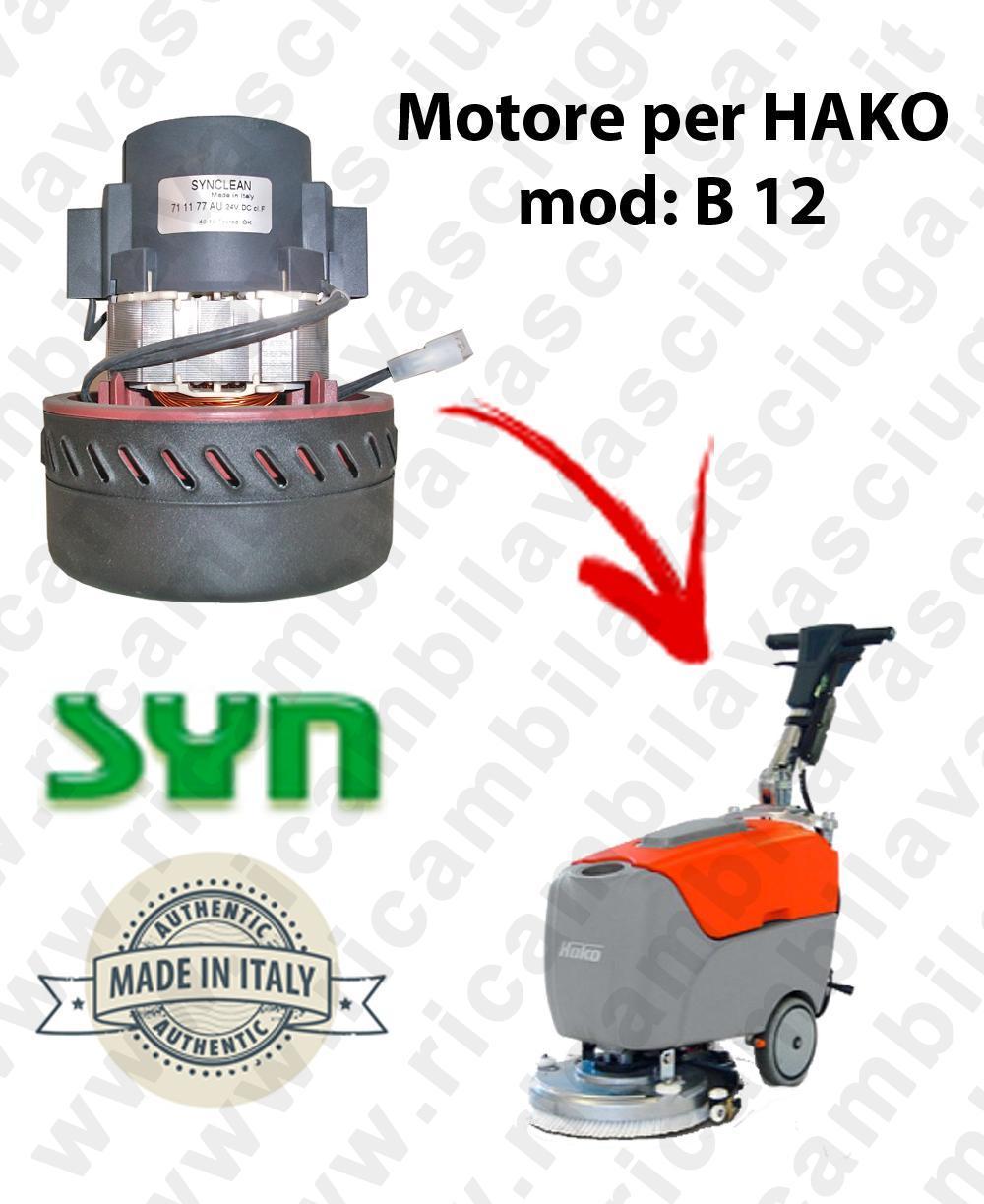 B 12 Vacuum motor Synclean for scrubber dryer HAKO