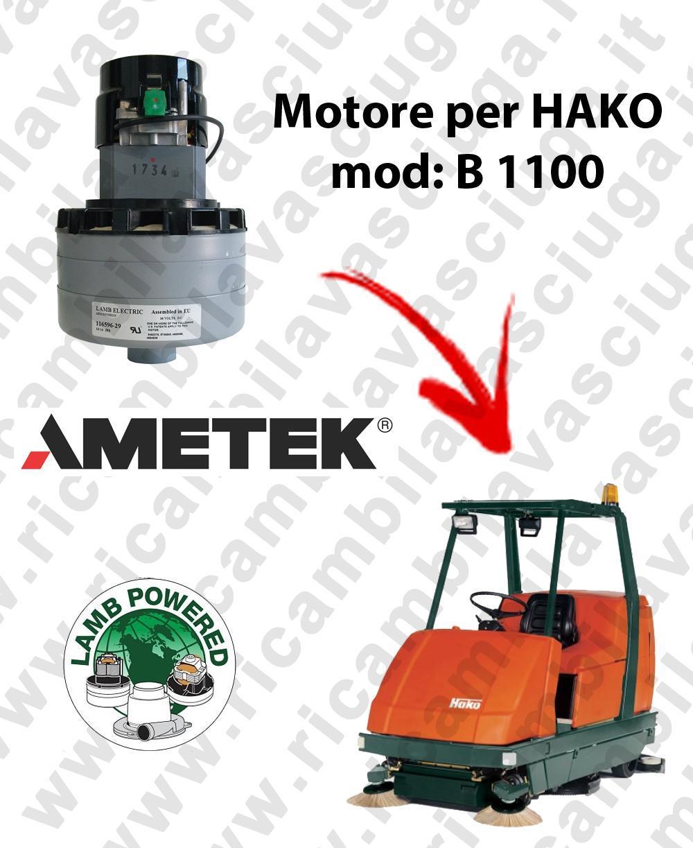 B 1100 LAMB AMETEK vacuum motor for scrubber dryer HAKO