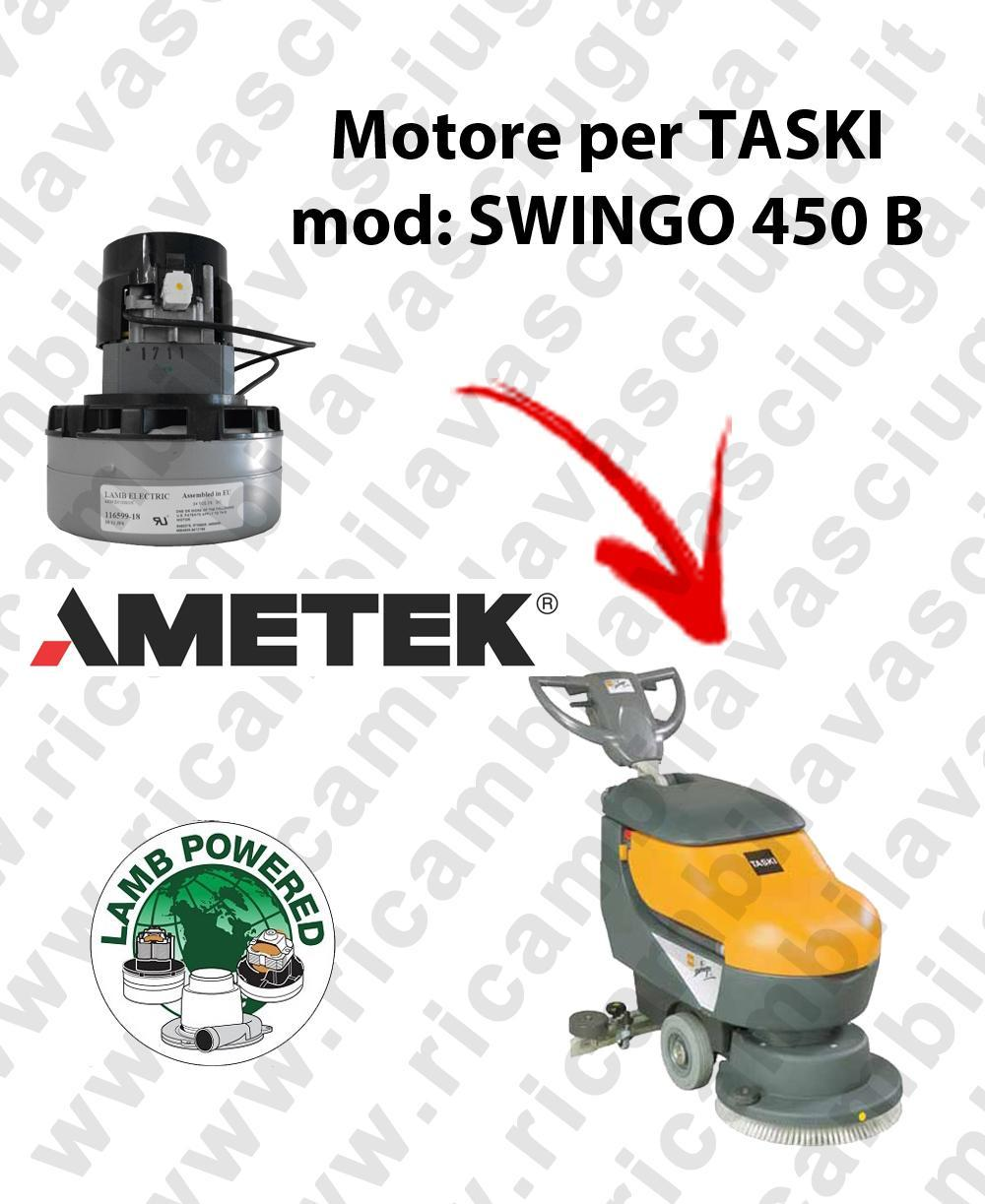 SWINGO 450 B LAMB AMETEK vacuum motor for scrubber dryer TASKI